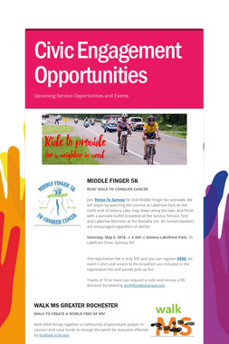 Civic Engagement Opportunities