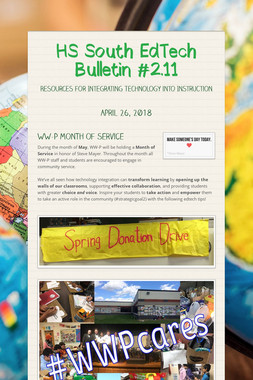 HS South EdTech Bulletin #2.11