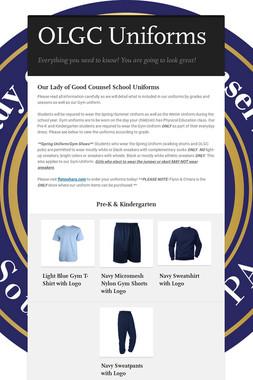 OLGC Uniforms