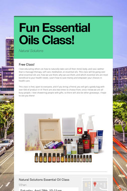Fun Essential Oils Class!