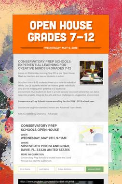 Open House Grades 7-12