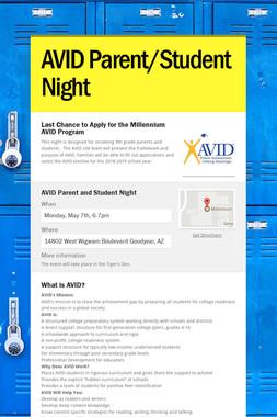AVID Parent/Student Night