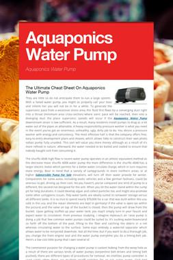 Aquaponics Water Pump