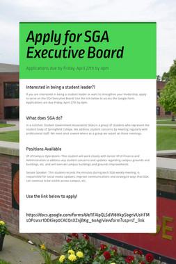 Apply for SGA Executive Board