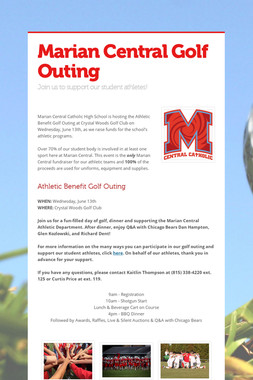 Marian Central Golf Outing