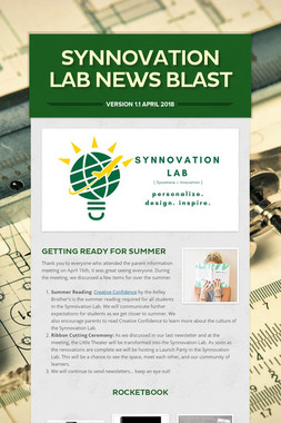Synnovation Lab News Blast