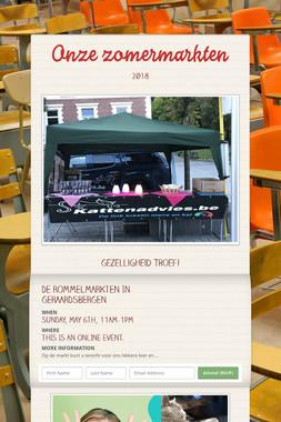 Onze zomermarkten