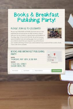 Books & Breakfast Publishing Party!