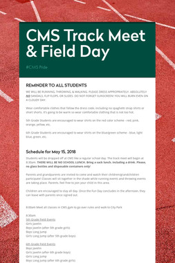 CMS Track Meet & Field Day