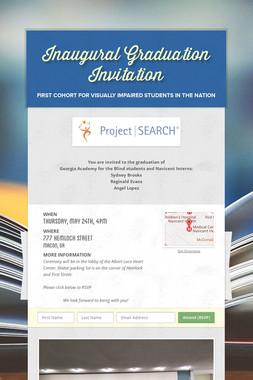Inaugural Graduation Invitation