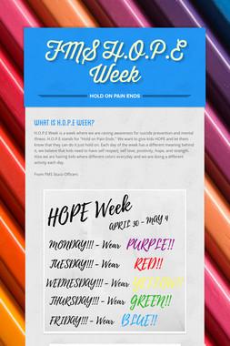 FMS H.O.P.E Week