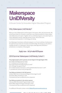 Makerspace UniDIVersity