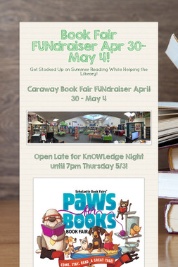 Book Fair FUNdraiser Apr 30-May 4!