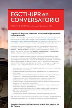 EGCTI-UPR en CONVERSATORIO
