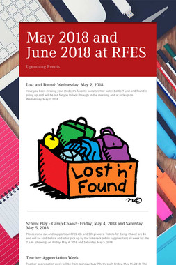 May 2018 and June 2018 at RFES