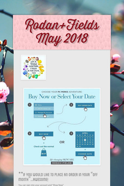 Rodan+Fields May 2018