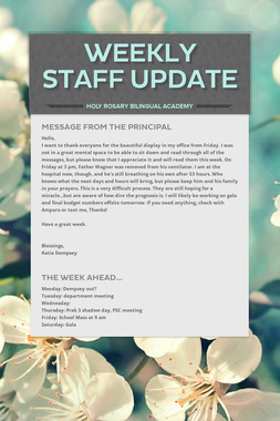 Weekly Staff Update