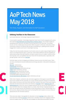 AoP Tech News May 2018