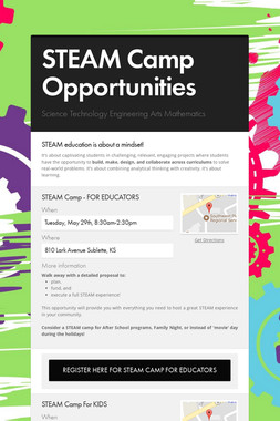 STEAM Camp Opportunities