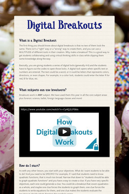 Digital Breakouts