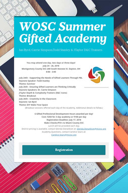 WOSC Summer Gifted Academy
