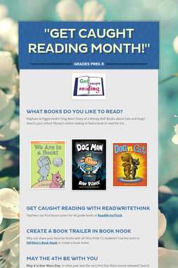 """Get Caught Reading Month!"""