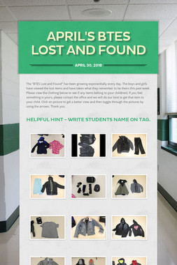 April's BTES Lost and Found