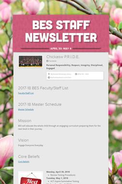 BES Staff Newsletter