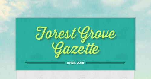 forest grove gazette smore newsletters. Black Bedroom Furniture Sets. Home Design Ideas