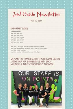 2nd Grade Newsletter