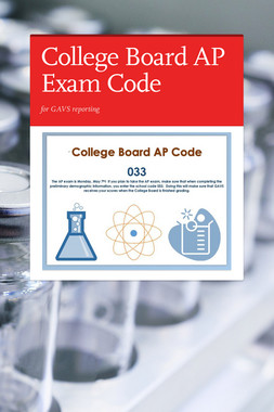 College Board AP Exam Code