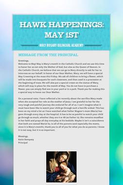 Hawk Happenings: May 1st