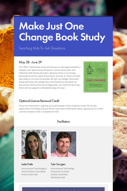 Make Just One Change Book Study
