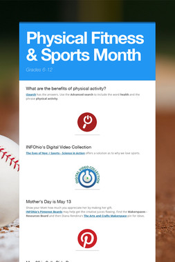 Physical Fitness & Sports Month