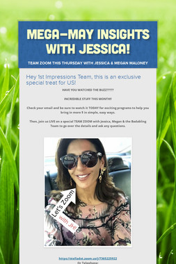 Mega-May Insights with Jessica!