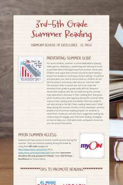 3rd-5th Grade Summer Reading
