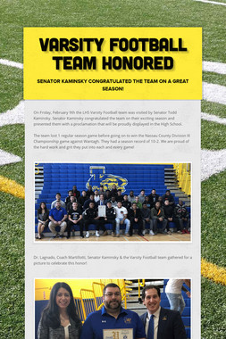 Varsity Football Team Honored