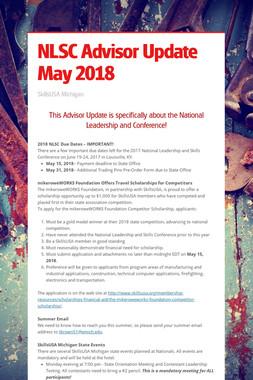 NLSC Advisor Update May 2018