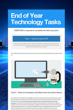 End of Year Technology Tasks