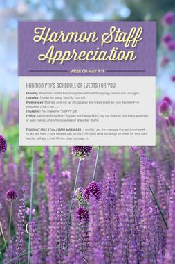 Harmon Staff Appreciation