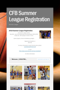 CFB Summer League Registration