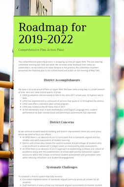 Roadmap for 2019-2022