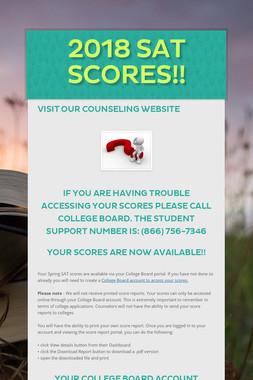 2018 SAT Scores!!