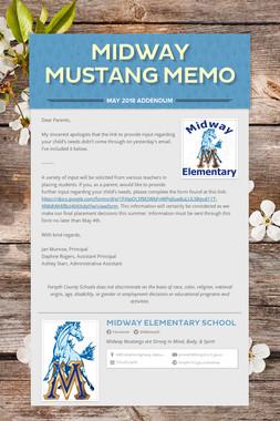Midway Mustang Memo