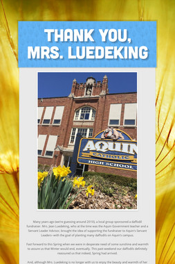 Thank you, Mrs. Luedeking
