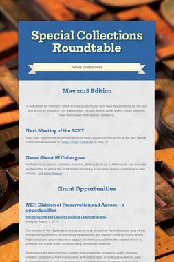 Special Collections Roundtable