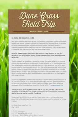 Dune Grass Field Trip