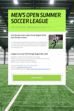 MEN'S OPEN SUMMER SOCCER LEAGUE