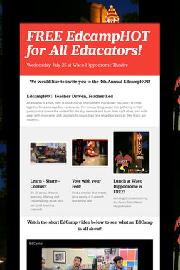 FREE EdcampHOT for All Educators!