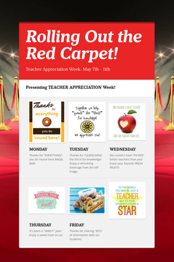 Rolling Out the Red Carpet!